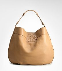 Tory Burch Leather Stacked Logo Hobo Doable since I ...