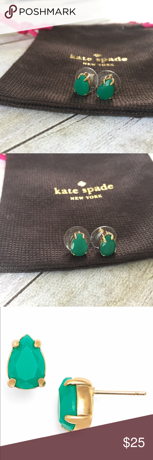 green emerald images pin stud earrings product round enamel of