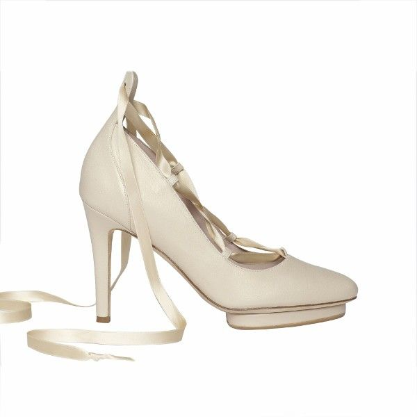 4e4faf8a5774 Vanessa in Creme  Elegant leather ballerina strapped pump. Powered ...