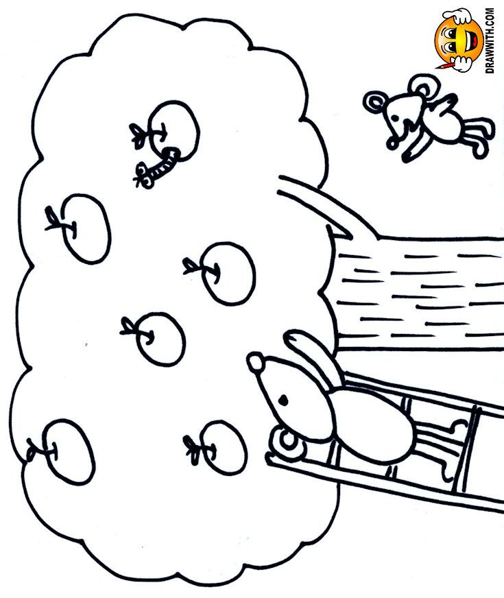 Free Apple Tree Mice Coloring Pages For Kids Which Includes A Color Along Video Tutorial C Coloring Pages Coloring Pages For Teenagers Coloring Pages For Kids