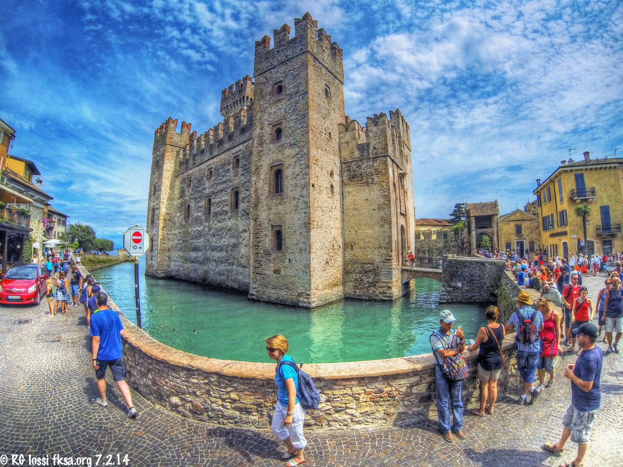 Rocca di Sirmione on the Sirmione peninsula at the south end of Lake Garda, Italy