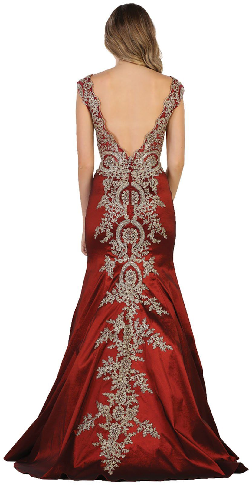 Formal dress shops inc by royal queen rq red carpet mermaid gown