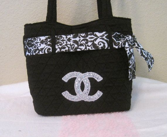 d741342711a2 Quilted Chanel inspired bag by Sassykatboutique on Etsy, $24.00 I need this  diaper bag!