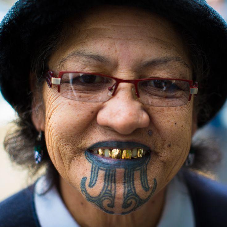 Female Maori Mouth Tattoos: 8. SPECTRAL BUTTERFLY Ta Moko