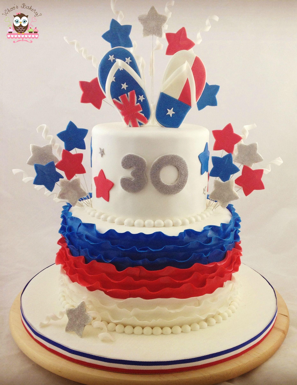 Texas Australian Birthday Cake For A Fellow Aussie Expat Turning