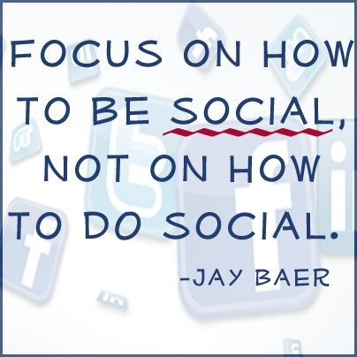 Focus on how to be social, not on how to do social #quote