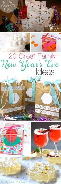 Love all these great New Years Eve ideas for the whole ...