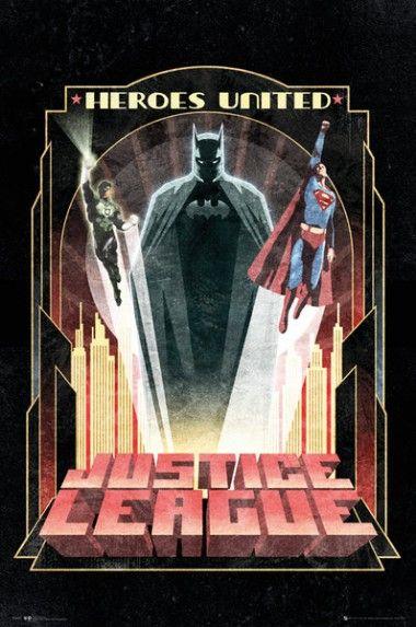 Dc Comics Liga Sprawiedliwych Batman Art Deco Plakat