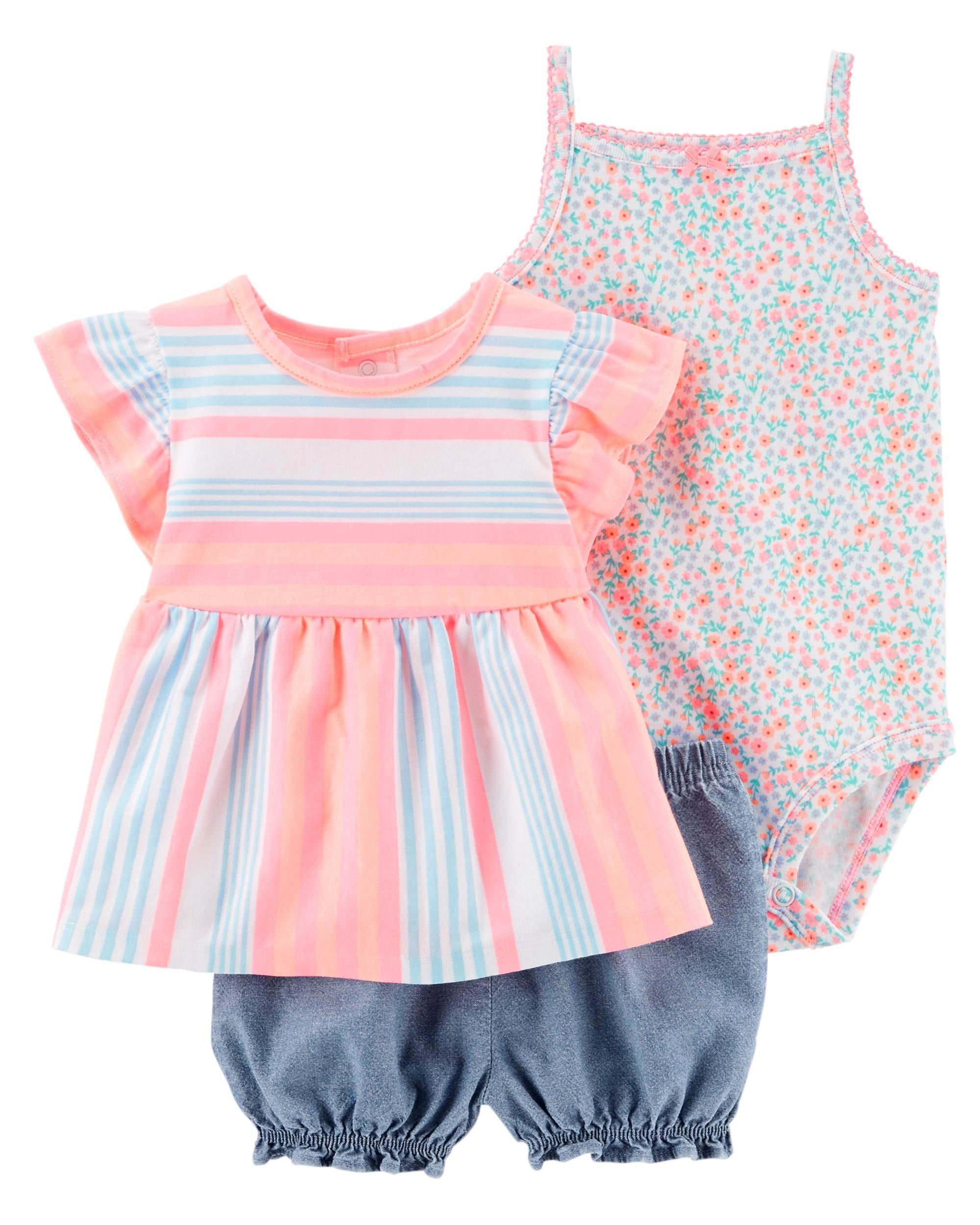 fc96ec9ca136 Baby Girl 3-Piece Little Short Set