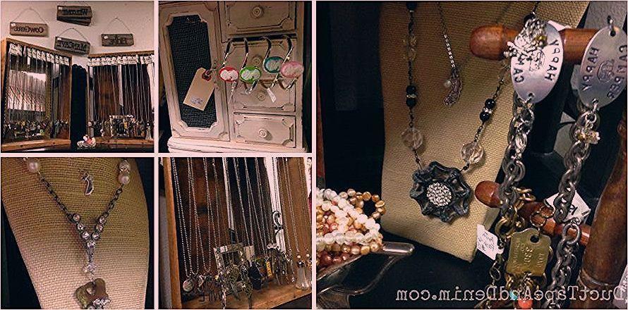 Paris Flea Market  My shelf at Paris Flea Market May 2014 Vintage upcycled jewelry