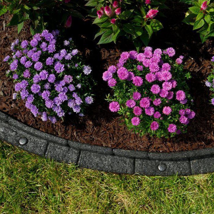 Rubberific 4 Ft Black Landscape Edging Section S Garden 640 x 480