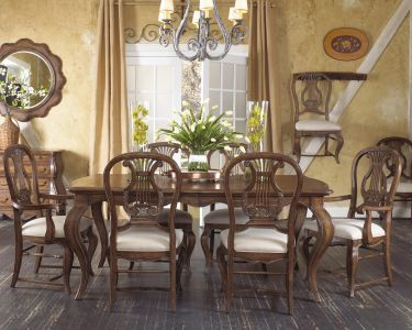 7-piece Vintage Classics French Leg Dining Set, Fine Furniture Design, Vintage Classics Collection | Home Gallery Stores