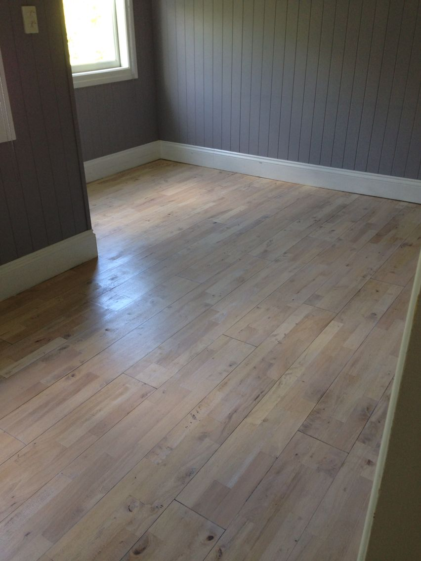 Limewashed floating floor. Floating floors can be sanded and refinished depending upon type of wood and depth.