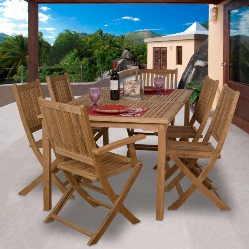 International Home Miami Sc Rotterdam Amazonia Teak Rotterdam 7 Pc Teak Dining Set By Amazonia 151 Outdoor Patio Space Outdoor Dining Set Buy Patio Furniture