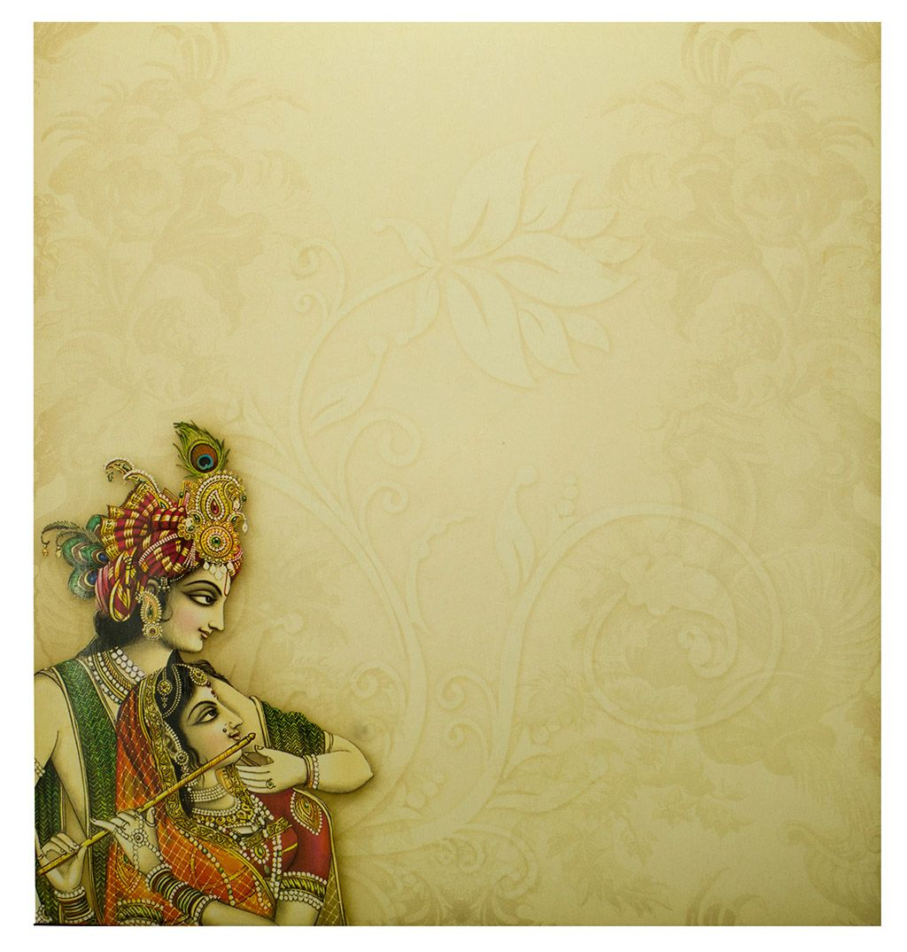 Hindu Wedding Card With Radha Krishna Images Hindu Wedding