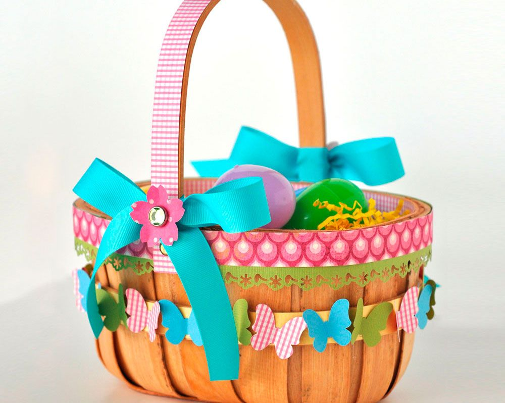 Awesome easter basket craft idea with cute butterflies and bows awesome easter basket craft idea with cute butterflies and bows decorations in multi color also some patterns decor negle Choice Image