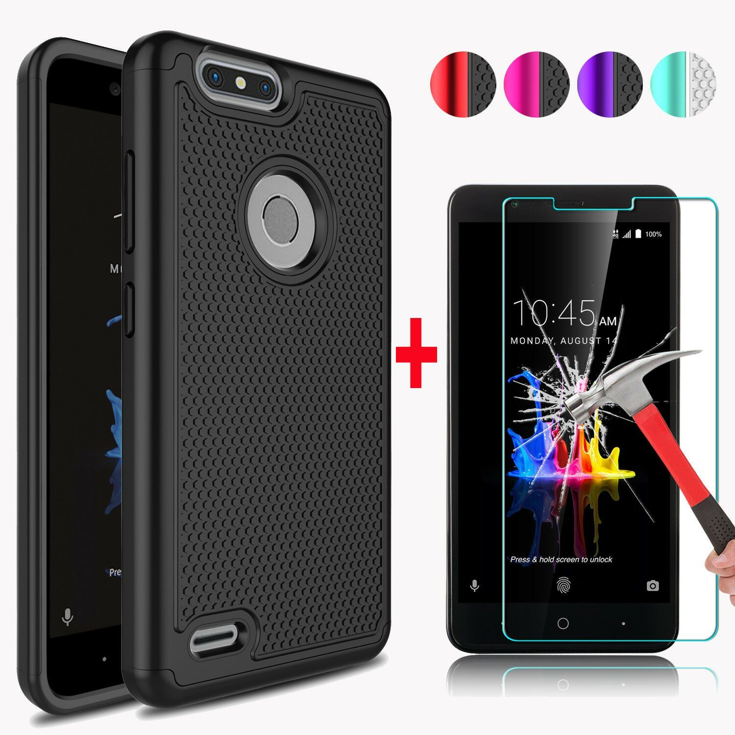 For zte blade z max z982 phone case cover tempered glass