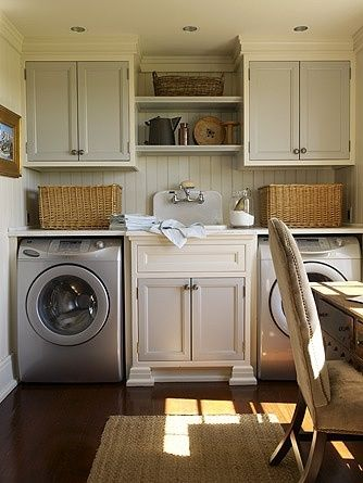 Genial Laundry Room With Apron Sink By Lacy.. Love The Sink In The Middle Looks
