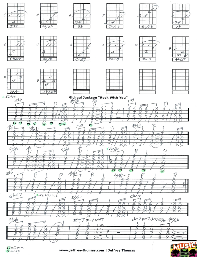 Free Guitar Tab For Rock With You By Michael Jackson I Have Done
