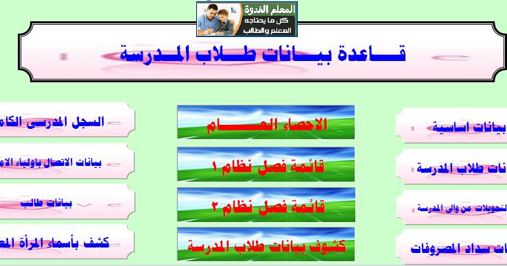 برنامج عمل قوائم الفصول المدرسية 2017 جاهز للعمل والتحميل جديد ومنسق إعداد السيد عبدالفتاح Teacher Map Map Screenshot