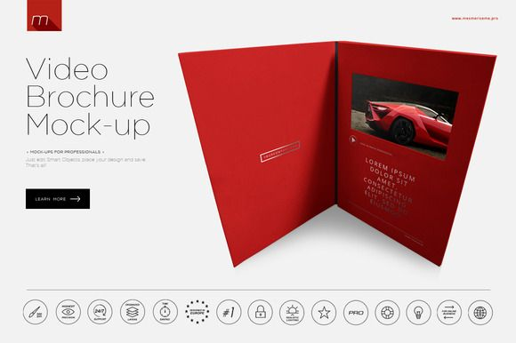 Video Brochure Mock-up by Mesmeriseme on Creative Market - video brochure template