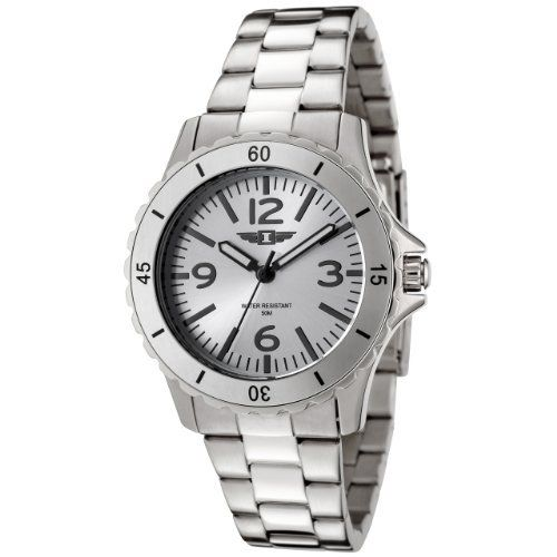 I By Invicta Women's 89051-001 Stainless Steel Watch Invicta. $59.99. Water-resistant to 165 feet (50 M). Second hand. Precise Japanese-quartz movement. Durable mineral crystal; brushed and polished stainless steel case and bracelet. Silver dial with black hands, hour markers and arabic numerals; luminous; unidirectional bezel