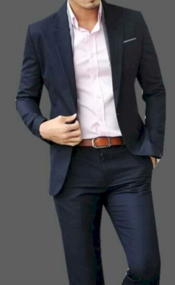 Stunning 51 Classy Blue Suits With Pink Shirt Ideas From