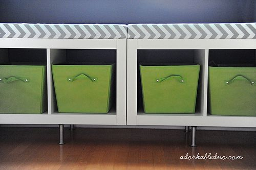 Diy Toy Storage Bench For Nursery   Adorkableduo.com