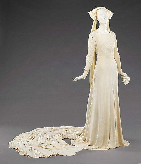 Saks Fifth Avenue Wedding Gowns: Elizabeth Hawes (American, 1903–1971). Wedding Ensemble
