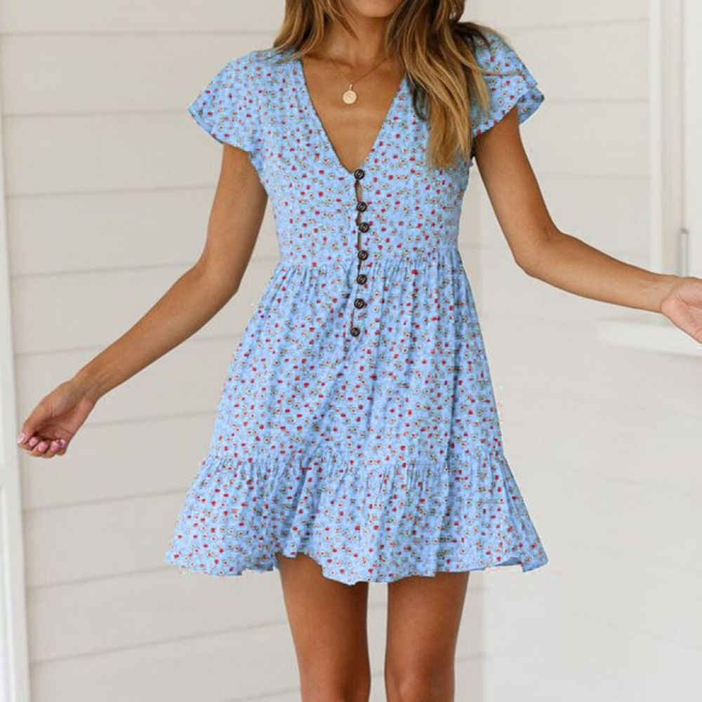 Casual Simple Bohemian Dress