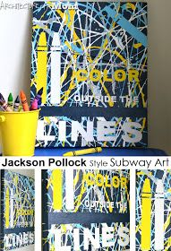 Architecture of a Mom: Jackson Pollock Style Subway Art--Color Outside the Lines