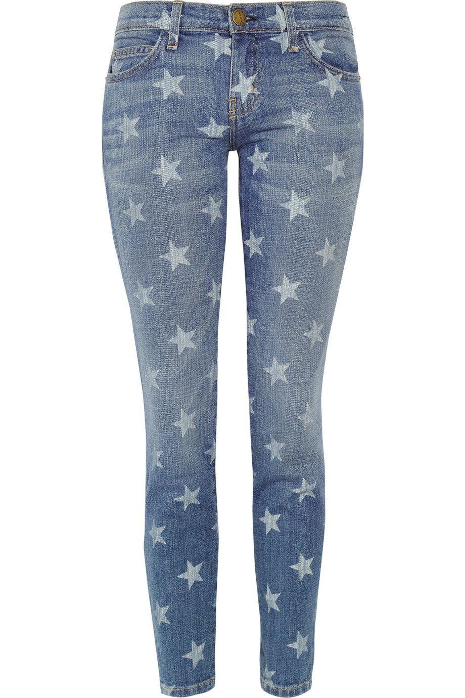 8476c0b93eae Current/Elliott | The Stiletto star-print low-rise skinny jeans |  NET-A-PORTER.COM