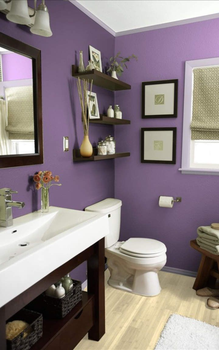 Purple Bathroom Designs And Ideas Purple Bathrooms Small Bathroom Colors Purple Bathroom Paint