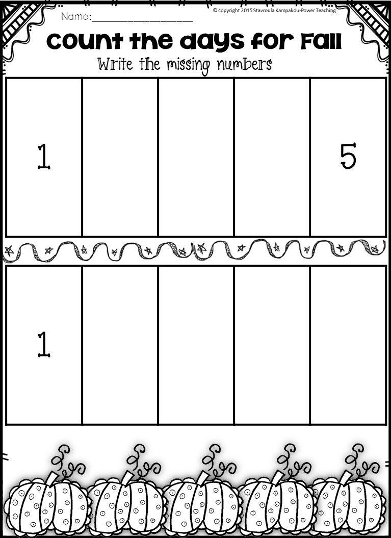 Fall Math Centers {Kindergarten NO PREP} | Number words, Maths and ...