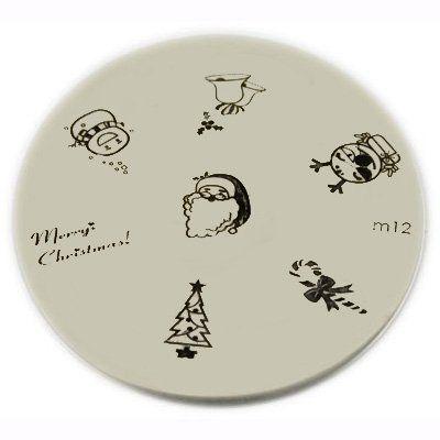Konad Stamping Nail Art Image Plate M12 Christmas Designs 395