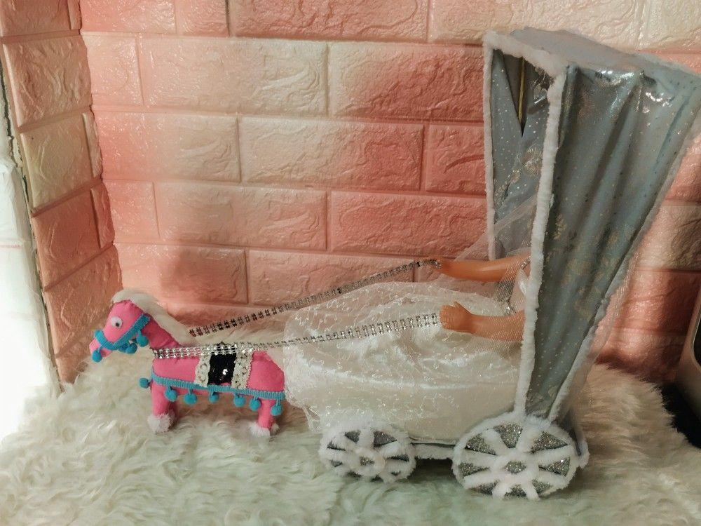 طريقه عمل عروسة المولد بالحنطور والحصان Baby Strollers Stroller Children