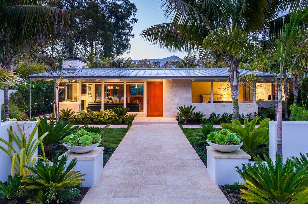 Mid century modern house plants exterior midcentury
