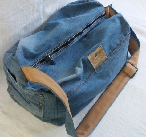 спортивная сумка из джинсов | Спортивная сумка, Джинсовая ...