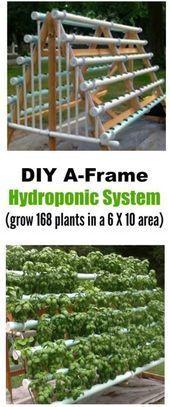DIY vertikales A-Frame Hydroponic System #vertikalergemüsegarten