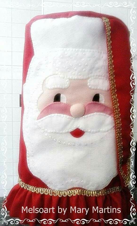 Forro licuadora | cara de papanoel | Pinterest | Navidad, Cubrir y Telas