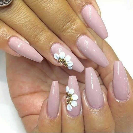 Simple & Beautiful Coffin Nails