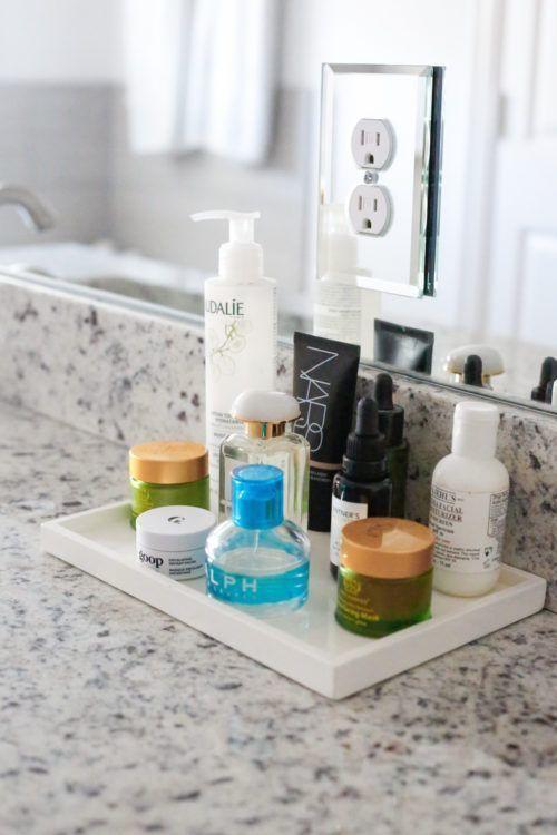 8 Ideas For Organizing Your Bathroom Design Darling Bathroom Counter Decor Bathroom Vanity Tray Organize Bathroom Countertop