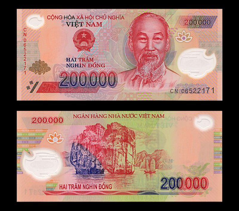 Banknote 1 Million Vietnam Dong U S Er 5 X 200000 Circ Vietnamese Banknotes Vnd
