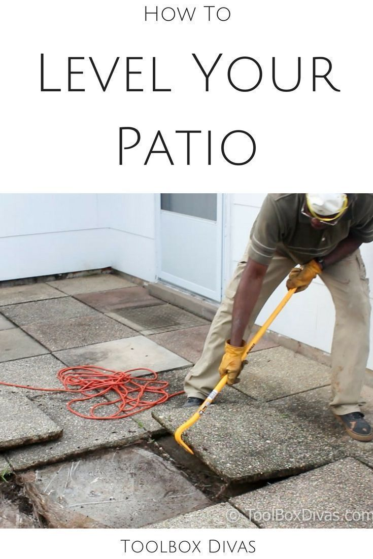 Raising and Leveling Sunken Patio Pavers is part of Sunken patio, Paver patio, Pavers, Outdoor patio decor, Outdoor diy projects, Patio - Your uneven and sunken patio pavers will be smooth again with these simple easy to follow steps  Fixing and leveling sunken pavers and uneven stones can be achieved in little time with these simple steps