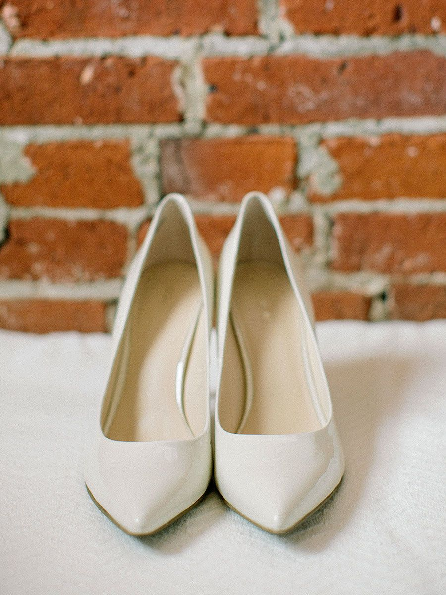 9a01d2ab87d58 Polish off your wedding ensemble with some pretty pumps. Check out these 16  high-heeled wedding shoes for every bridal style.