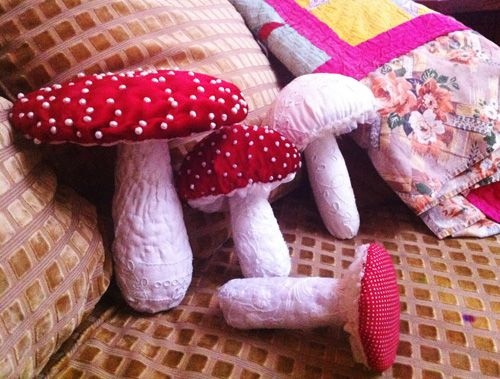 pretty mushrooms pillows