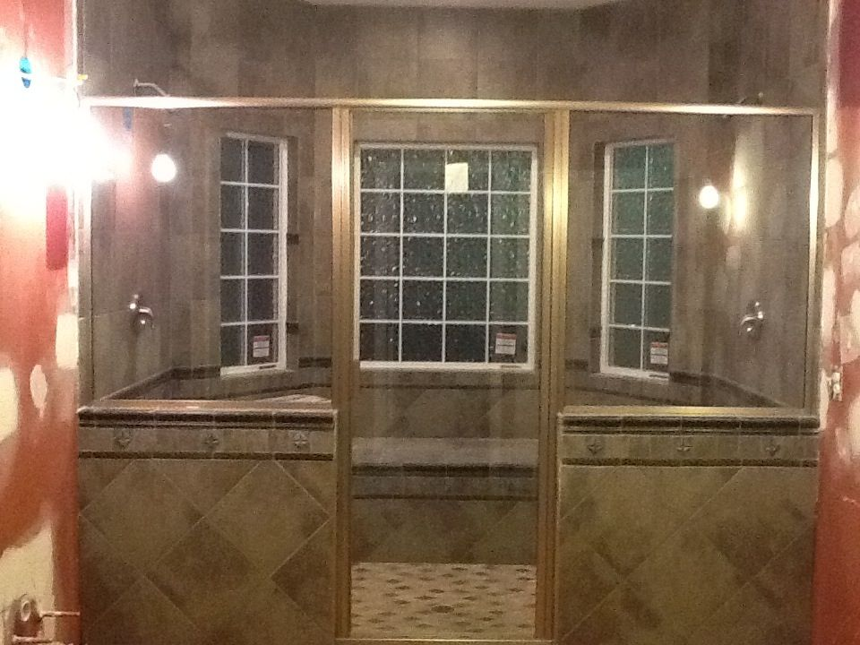 2 person walk-in shower project almost complete. Designed by Owens ...