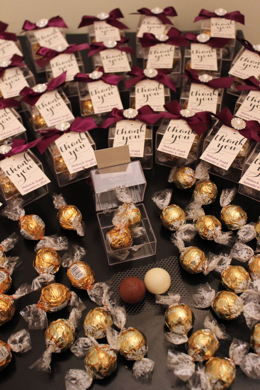 Image result for lindor lindt chocolate wedding favours
