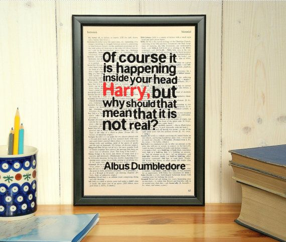 Albus Dumbledore quote - https://www.etsy.com/listing/223272741 ...