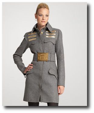 Double Felt Wool Military Coat Dior, Military Coat Military ...